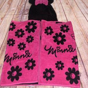 Dinaey minnie mouse swim bath towel